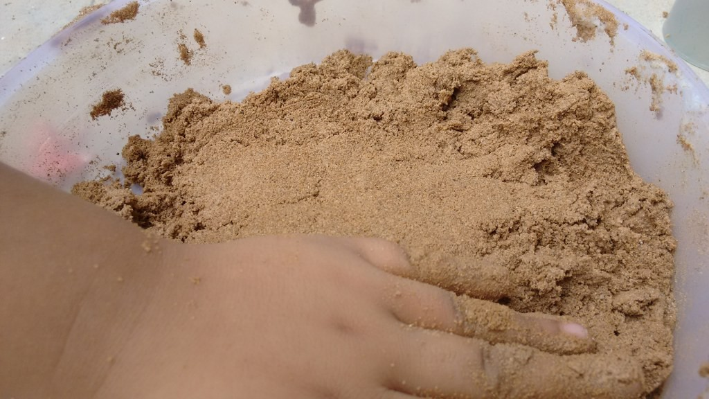 DIY foam sand
