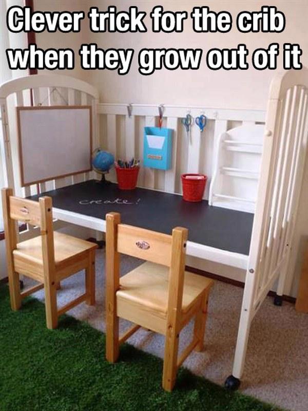 Crib study parenting hack