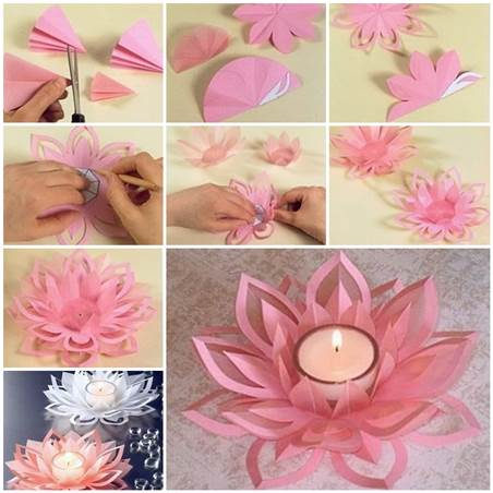 I love these dainty lotus shaped tea-candle holders.
