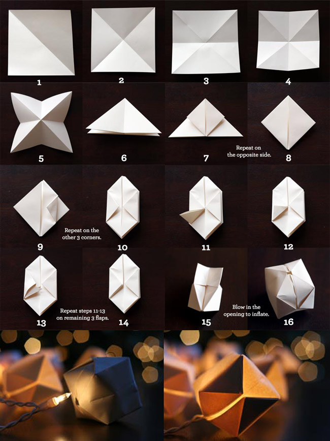 I am in love with these little origami lights.