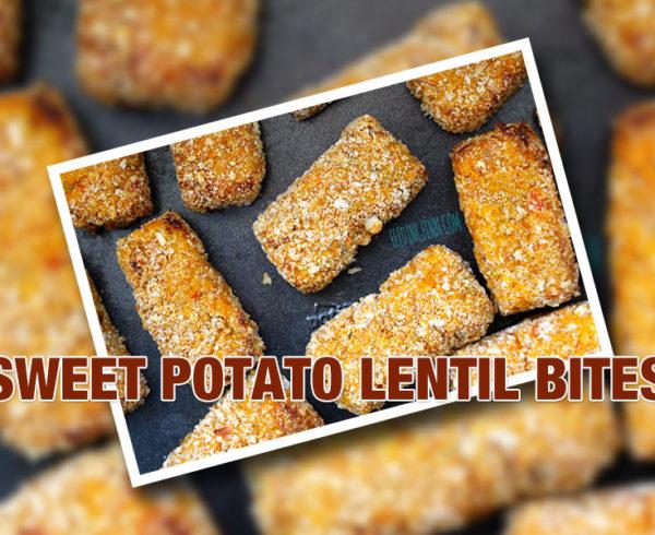 sweet potato and lentil bites