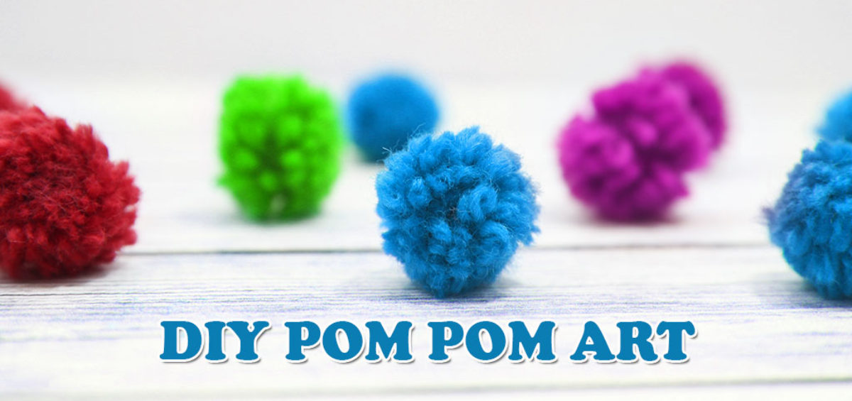 DIY Pom Pom And WaterColour Art For Kids